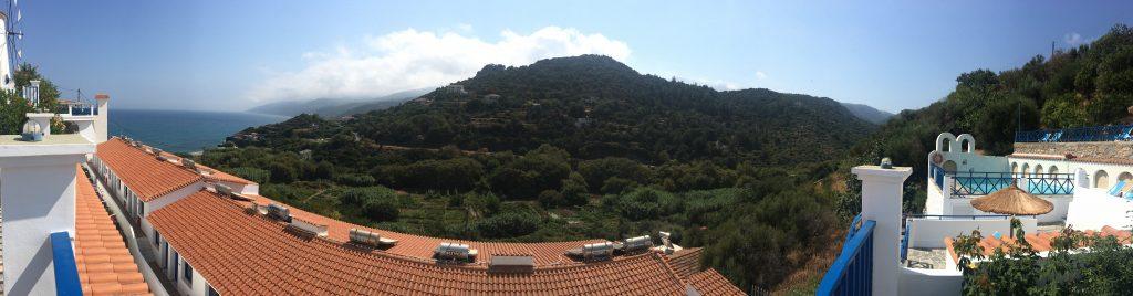 Ikaria'nın yeşil dağları