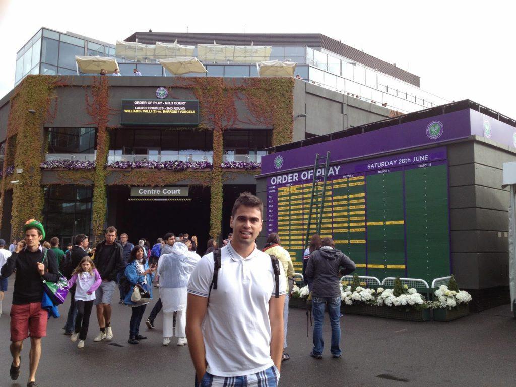 Wimbledon girişindeki ana tablo
